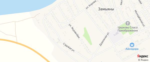Улица Журавлева на карте села Замьяны с номерами домов