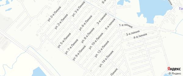 9-я линия на карте Дагестана СНТ с номерами домов