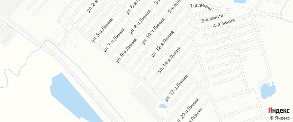 12-я линия на карте Дагестана СНТ с номерами домов