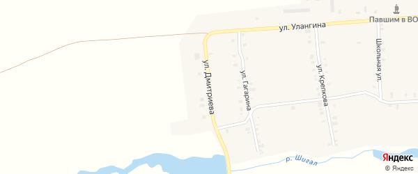 Улица Дмитриева на карте деревни Татмыш-Югелево с номерами домов
