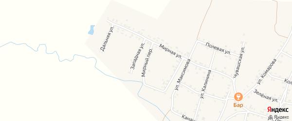 Мирный переулок на карте села Яншихова-Норвашей с номерами домов