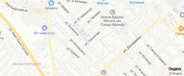 Улица Гамзатова на карте Каспийска с номерами домов