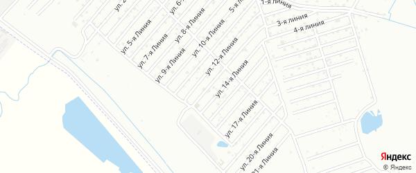 13-я улица на карте поселка Ветеранова с номерами домов