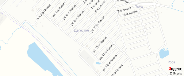 13-я линия на карте Дагестана СНТ с номерами домов