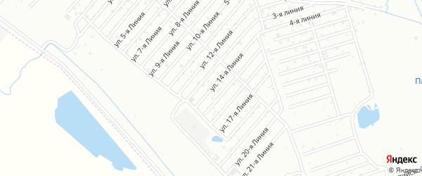 Участок Заря СНТ Линия 14 на карте Каспийска с номерами домов