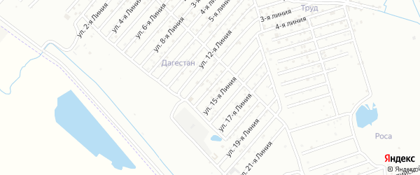 14-я линия на карте Восхода СНТ с номерами домов