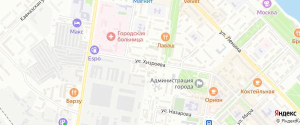 Улица Хизроева на карте Каспийска с номерами домов