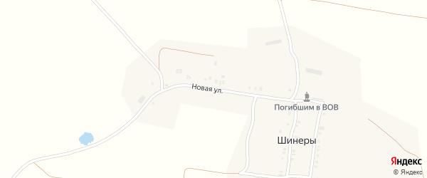Новая улица на карте села Шинеры с номерами домов