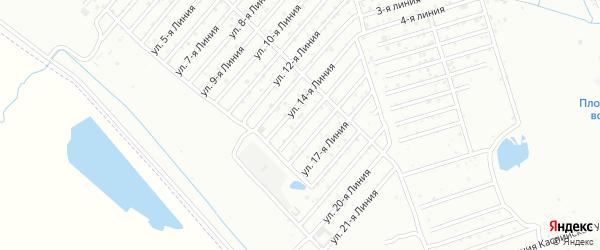 Улица Колос СНТ Линия 15 на карте Каспийска с номерами домов