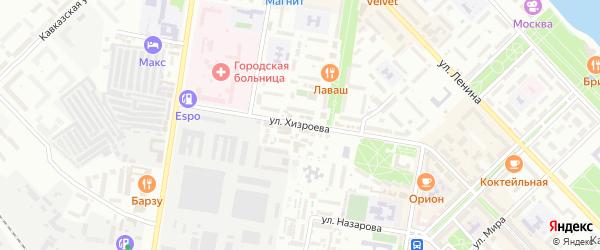 Улица Хизроева на карте Кирпичного поселка с номерами домов