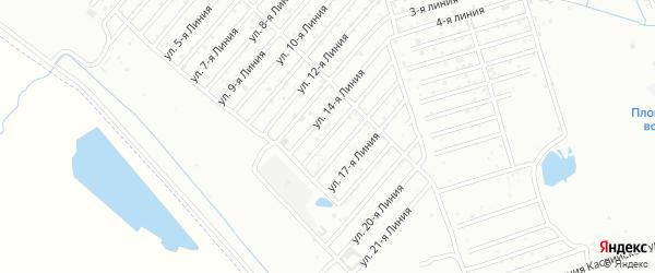 15-я линия на карте Азимута СНТ с номерами домов