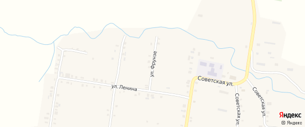 Улица Фрунзе на карте села Сугуты с номерами домов