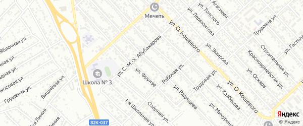 Улица Радищева на карте Каспийска с номерами домов
