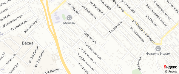 Озерная улица на карте Каспийска с номерами домов