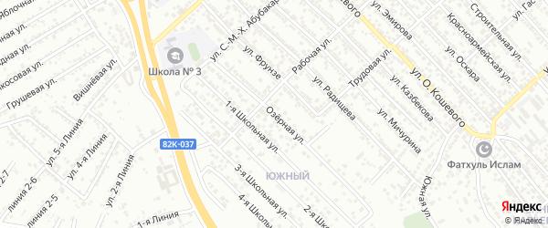 Озёрная улица на карте Южного микрорайона с номерами домов