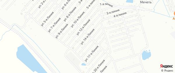 14-я линия на карте Дагестана СНТ с номерами домов