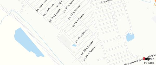 16-я линия на карте Азимута СНТ с номерами домов