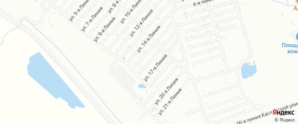 16-я линия на карте Дагестана СНТ с номерами домов