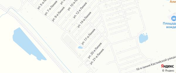 17-я линия на карте микрорайона Кемпинга с номерами домов