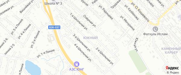 Школьная 4-я улица на карте Южного микрорайона с номерами домов
