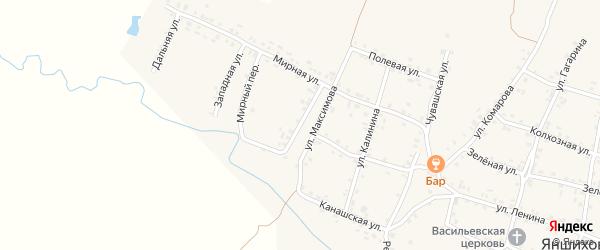 Улица Максимова на карте села Яншихова-Норвашей с номерами домов
