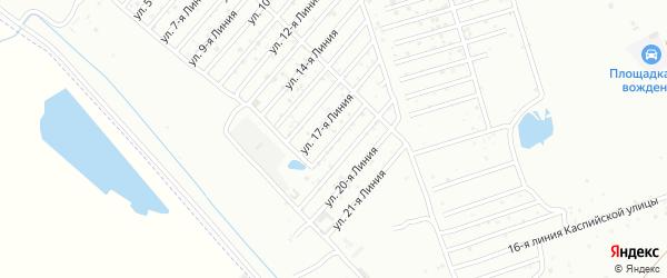 18-я линия на карте микрорайона Кемпинга с номерами домов