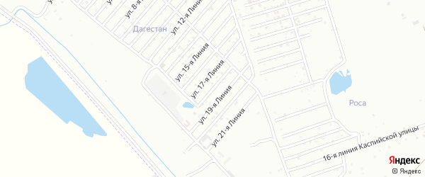 18-я линия на карте Азимута СНТ с номерами домов