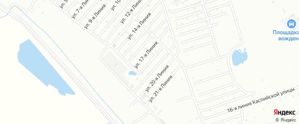 18-я линия на карте Дагестана СНТ с номерами домов