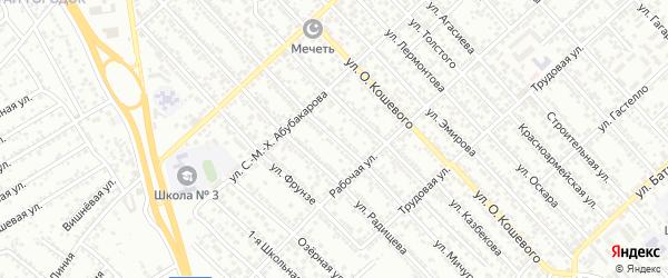 Улица Мичурина на карте Каспийска с номерами домов