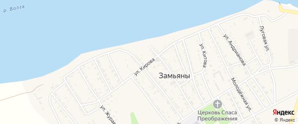 Улица Кирова на карте села Замьяны с номерами домов