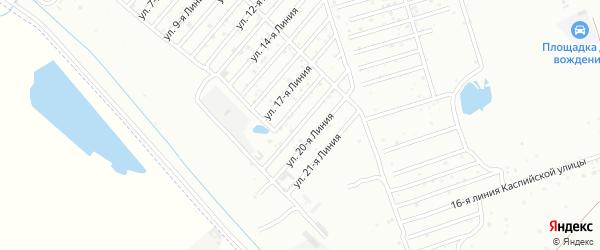 19-я линия на карте Азимута СНТ с номерами домов