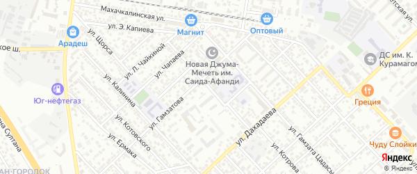 Улица Дзержинского на карте Каспийска с номерами домов
