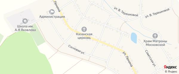 Улица Ленина на карте села Малые Кибечи с номерами домов