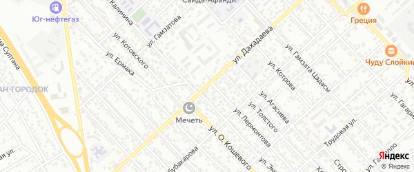 Улица Дахадаева на карте Каспийска с номерами домов