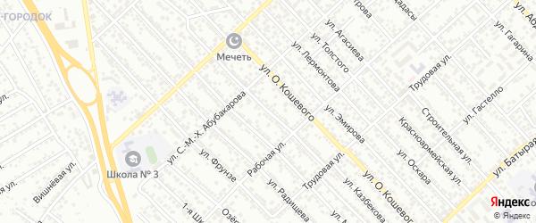 Улица Тимирязева на карте Каспийска с номерами домов