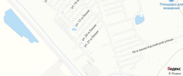 21-я линия на карте Дагестана СНТ с номерами домов
