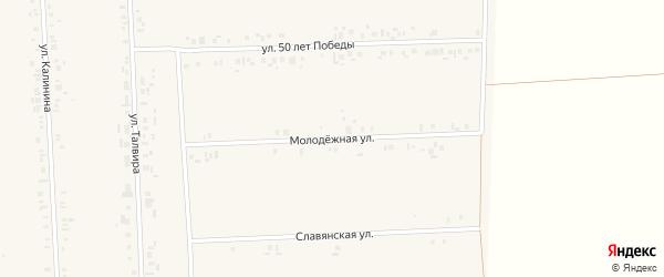 Молодежная улица на карте села Батырево с номерами домов