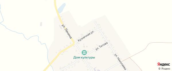 Кузнечная улица на карте деревни Старое Котяково с номерами домов