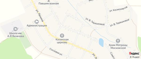 Советская улица на карте села Малые Кибечи с номерами домов
