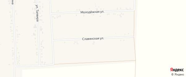 Славянская улица на карте села Батырево с номерами домов
