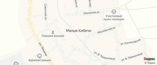 Улица Михаила Георгиева на карте села Малые Кибечи с номерами домов
