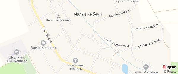 Восточный переулок на карте села Малые Кибечи с номерами домов
