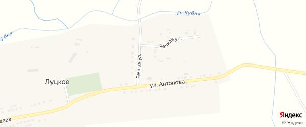 Улица Антонова на карте Луцкого села с номерами домов