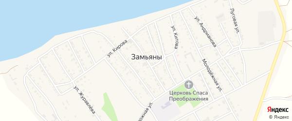 Комсомольская 2-я улица на карте села Замьяны с номерами домов