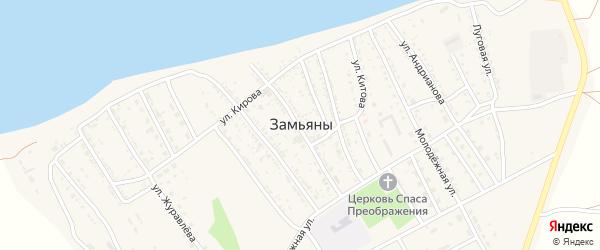 Улица Зверобоева на карте села Замьяны с номерами домов