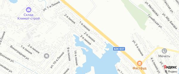2-я линия на карте района Озера Турали и Аэропортовское шоссе с номерами домов