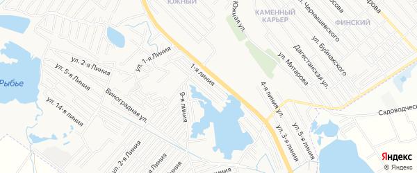 Урожай СНТ на карте Каспийска с номерами домов