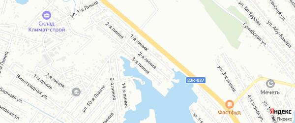 Школьная 2-я улица на карте Южного микрорайона с номерами домов