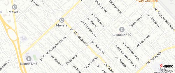 Улица Эмирова на карте Каспийска с номерами домов
