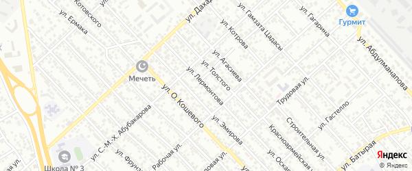 Улица Лермонтова на карте Каспийска с номерами домов